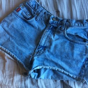 lei high waisted jean shorts